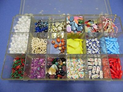 Jewelry Making Supplies Lot Assorted Sizes Shapes Colors Beads JWL9
