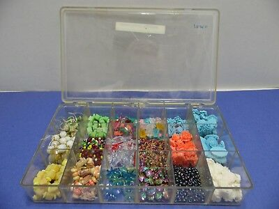 Jewelry Making Supplies Lot Assorted Size Shape Color Beads Some Flat Back JWL8