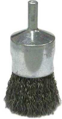 "WEILER 36285 Crimped Wire End Wire Brush, SS, 1"" 34CP59"