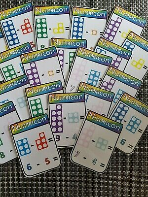 20 numicon subtraction flashcards display maths numbers counting SEN autism