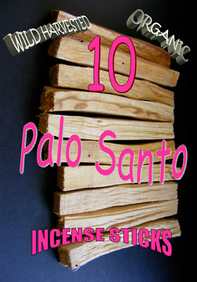 20 x PALO SANTO🌕 ORGANIC SUSTAINABLE SMUDGE/INCENSE STICKS   2 x 10 stick packs