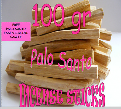 PALO SANTO HOLY WOOD BULK Organic Incense/Smudge Sticks x100gr + FREE oil sample