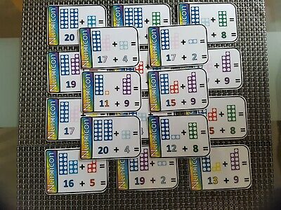 20 numicon addition flashcards display maths numbers counting SEN autism 20 - 30