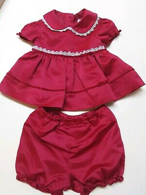 ed413e135058 George Baby Girl Red Dress with Bloomer Panties Infant Size 0-3M Holiday  Party