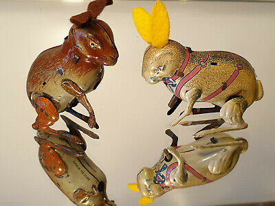 Blechspielzeug tin toy Köhler GKN Hase Made in US Zone Germany