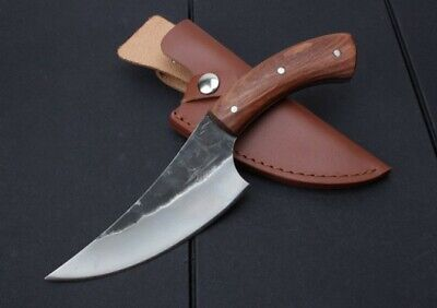 New High-carbon Steel Handmade Forged Damascus Hunting Fixed Knife A44