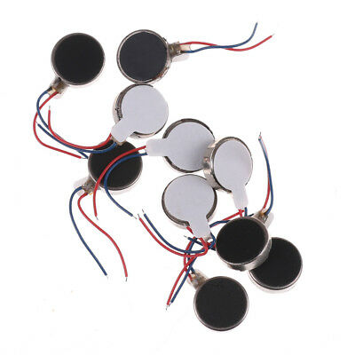 10x Coin Flat Vibrating Micro Motor DC 3V Fit For Pager and Cell Phone MobileLD