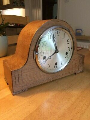 Antique Art Deco Enfield Westminster chime mantle clock