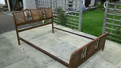 Vintage Rattan Work Double Bed
