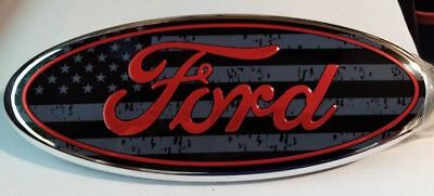 """For Ford Transit 2006-2014 & F150 Front Badge 9"""" Aluminium 4562194 Usa Red"""