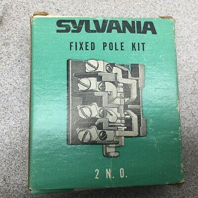 New In Box Sylvania Fixed Pole 2N/O Contacts Auxiliary Kpmf-1