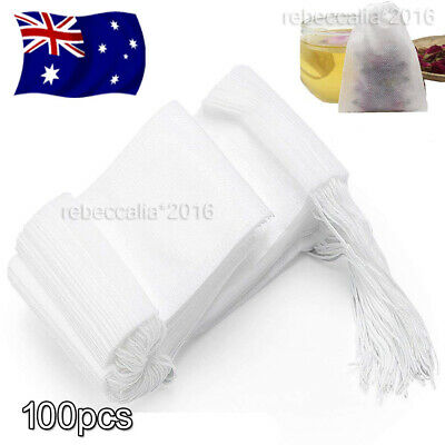 Empty tea bag Heat sealing filter paper clean Loose bag String Teabag Herb AU