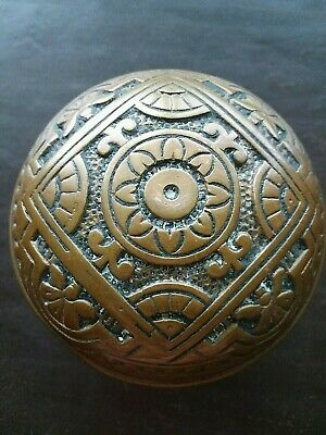 "Door Knob Antique Victorian Eastlake Brass Entry Size 2 1/2"" Corbin 1885 H 21700"