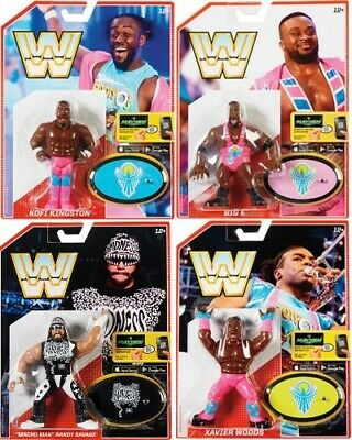 WWE Mattel COMPLETE SET Retro Figure Series 5 Macho Man/Kofi/Big E/Woods