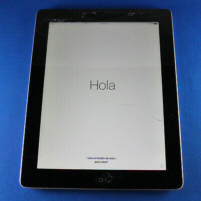Apple iPad 4th Gen. 16GB, Wi-Fi, 9.7in - Black - Cracked Screen
