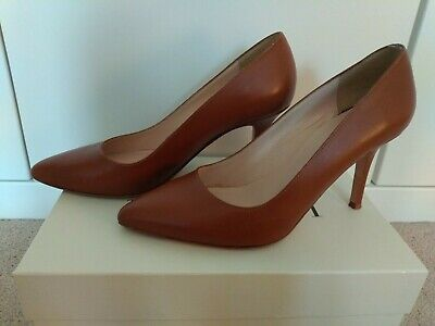 01aad577d65f LK Bennett brown leather pointed toe court heels size 39 / UK 6 / US 8