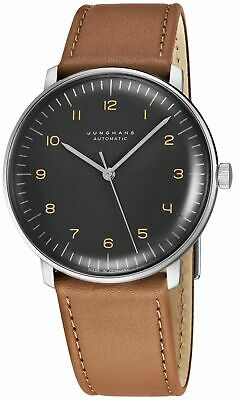 Junghans MaxBill Automatic Grey Dial Strap Self-Winding Men's Watch 027/3401.00