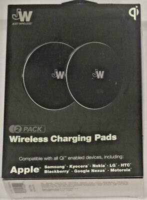 Just Wireless - 5W Qi Certified Wireless Charging Pad - 2 PACK
