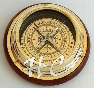Maritime Antique Brass Sailing Ship Boat Desk Navigational Nautical Compass 6""