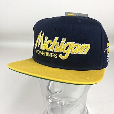 cheap for discount 3af06 2cea2 Sports Specialties Vintage NWT Michigan Wolverines Snapback Hat Blue Yellow  NCAA