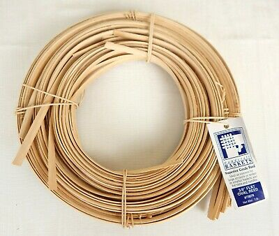 "Jadvick 3/8"" Flat Oval Reed for Basketry Basket Making 1 lb Coil Natural #73078"