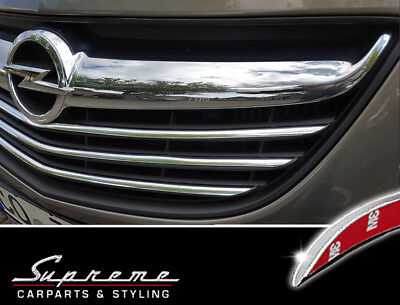 Vauxhall Meriva B 2013-2017 Chrome Trim 3M Tuning for Radiator Grill Upper