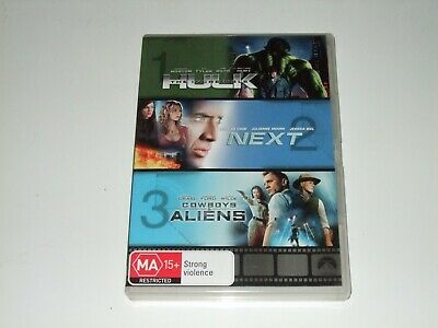 The Incredible Hulk / Next / Cowboys and & Aliens - DVD **Free Postage**