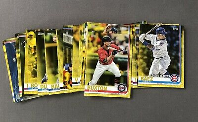 2019 Topps Series 1 Lot of 37 Different Yellow Parallel Baseball Card Walgreens