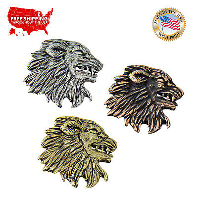 Creative Pewter Designs Medieval Lion Head Lapel Pin or Magnet, G005