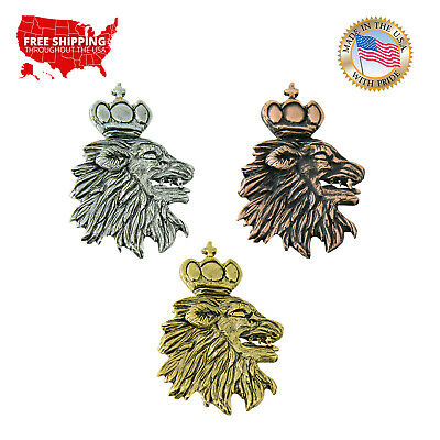 Creative Pewter Designs Medieval Lion Head Lapel Pin or Magnet, G006