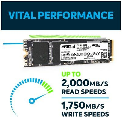 Crucial P1 500GB 3D NAND NVMe PCIe M.2 SSD CT500P1SSD8