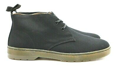 05a74e0b0bc MENS DR MARTENS Mayport Overdyed Twill Canvas Black Desert Boots UK ...