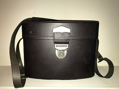 Vintage Made in Japan Hard Leatherette Camera Accessory Case BW Film Accesories
