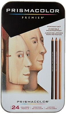 Prismacolor Premier Portrait Set Soft Core 24 Coloured Pencils - Brand New