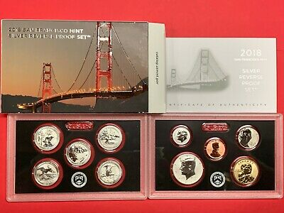 2018 S Us Mint Silver Reverse Proof Set, Limited Edition!