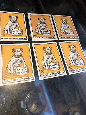 Bulldog Safety Matches X 6 Unused Paper Labels