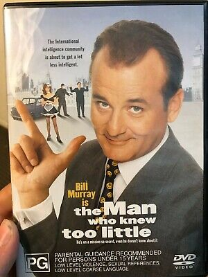 The Man Who Knew Too Little region 4 DVD (1997 Bill Murray comedy movie)