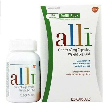 alli Orlistat 60mg Weight Loss Aid Refill Pack Expires 06/19 120 Capsules