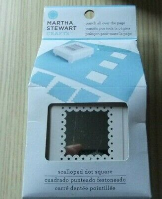 Martha Stewart Scalloped Dot Square Punch All Over the Page ~ M2