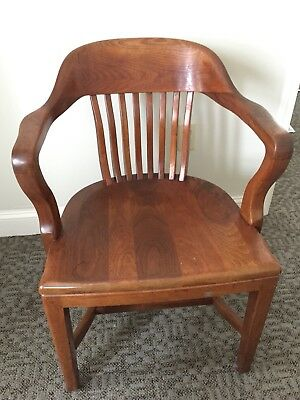Antique American Walnut Jury Chair J.B. Van Sciver Co. Bankers Chair