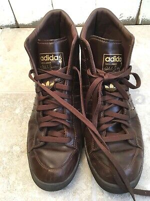official photos 9a514 22cbb ... Mens Sneakers Shoes Brown Leather Retro Vintage.