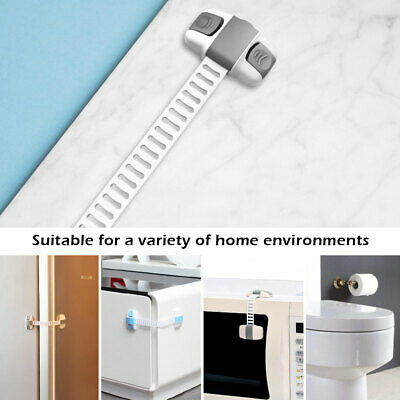Adhesive Child Kids Baby Safety Lock For Door Drawers Cupboard Cabinet Fridge AU