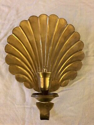 Vintage Brass Scallop wall sconce