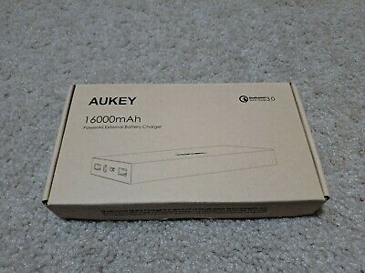 ***AUKEY 16000mAh Quick Charge 3.0 Power Bank USB Portable External Battery**