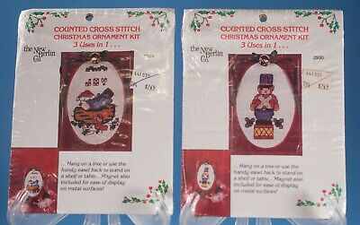 The New Berlin Co 3 in 1 Christmas Ornaments Kit 2930 NIP Counted Cross Stitch
