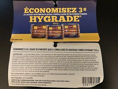 Hygrade Coupons! Save 3$ (5 Coupons)