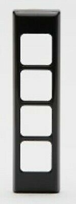 PDL ARCHITRAVE SWITCH COVER 130x32mm 4-Gangs Horizontal/Vertical BLACK