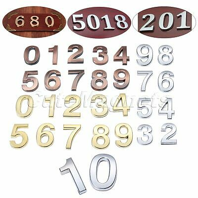 0-9 House Hotel Door Room Numbers Code Self Adhesive Plaques Sign Digits Sticker