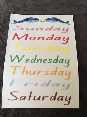 Teacher Resource Classroom A4 Poster DAYS OF THE WEEK Primary Infants BN