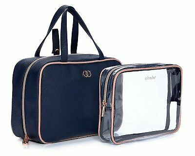 Caboodles Life & Style Hanging Travel Tote Multi Pocket Toiletry 2 Bags Clutch